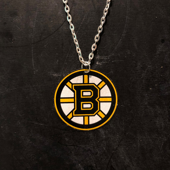Small Bruins Tin Necklace