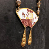 King of Clubs Tin Necklace