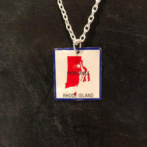 Rhode Island Tin Necklace