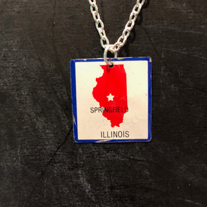 Illinois Tin Necklace