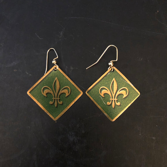 Fluer-De-Lis Tin Earrings