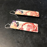 Muted Floral Tin Earrings
