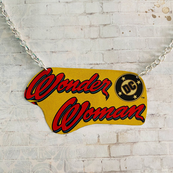 Wonder Woman DC Logo Tin Necklace