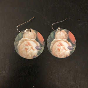 Cabbage Rose Tin Earrings