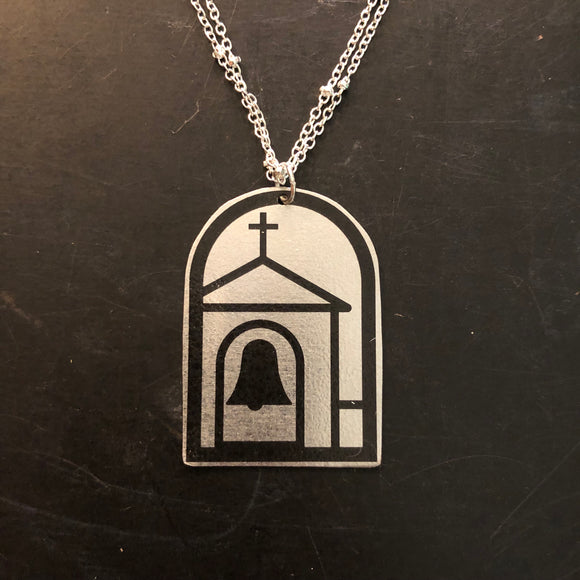 Church Tin Necklace