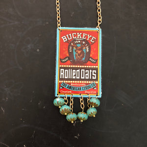 Buckeye Rolled Oats Tin Necklace
