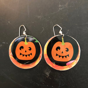 Layered Pumpkin Tin Earrings