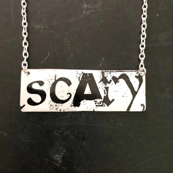 Scary Tin Necklace