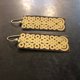 Celtic Knots Rectangle Tin Earrings