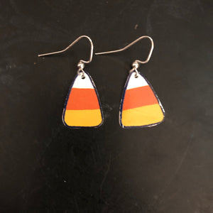 Candy Corn Tin Earring