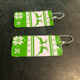 Deer Long Tin Earrings