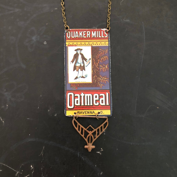 Quaker Mills Oatmeal Tin Necklace