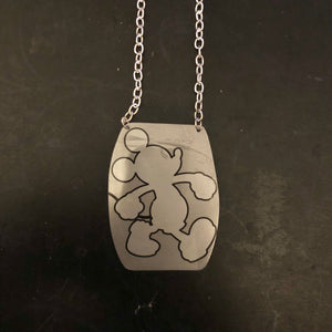 Strutting Mickey Mouse Tin Necklace