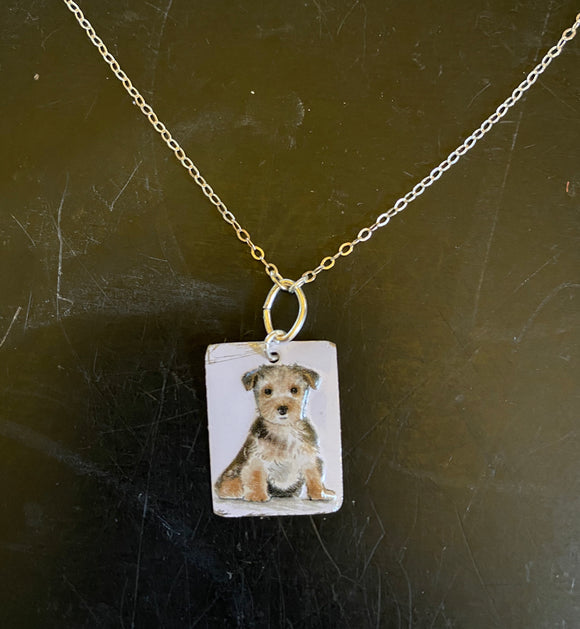 Terrier Tin Necklace
