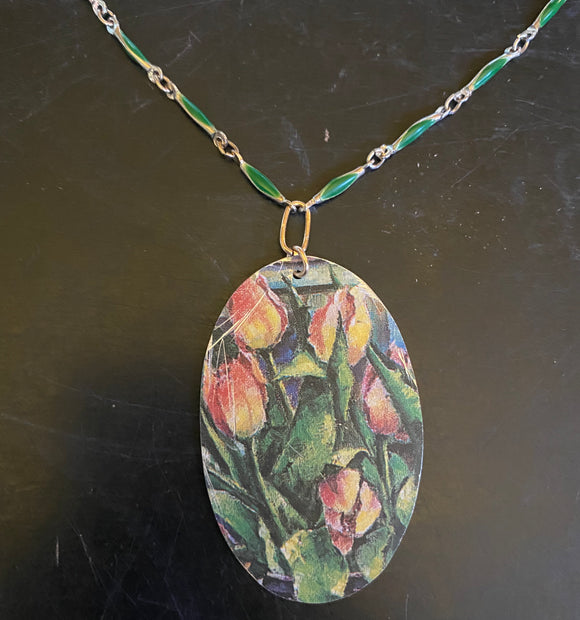 Tulip Fields Tin Necklace