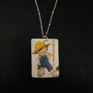 Campbell's Soup Cutie with Pail Tin Necklace