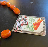 Farm Fresh Carrots Tin Necklace