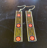 Chinese Artwork Style Tin Earrings