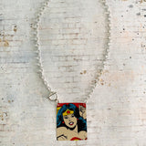 Wonder Woman in Action Tin Necklace