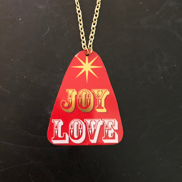 Joy and Love Tin Necklace