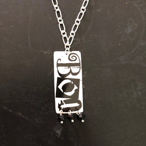 Boo Tin Necklace with Beads