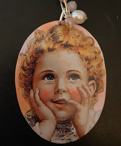 Curly Blonde Toddler Necklace
