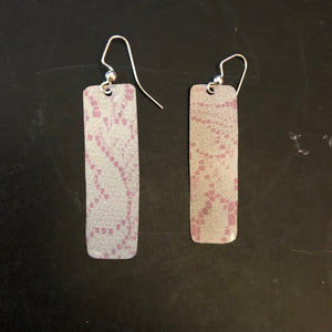 Pink and Cream Lace Tin Earrings