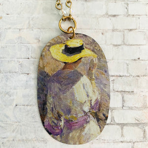 Southe Ledges Oval Tin Necklace