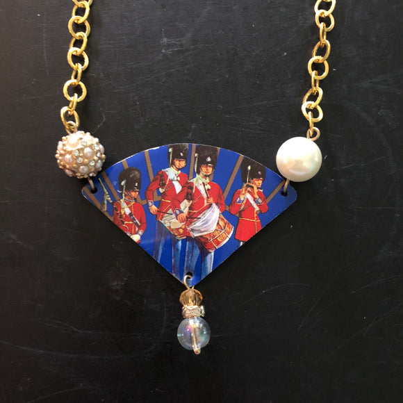 Drummer Boys Tin Necklace