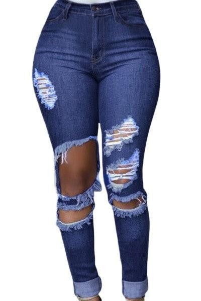 Woman Casual Ripped Jeans For Women