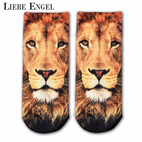 Fashion 3D Character Cotton Socks For Women