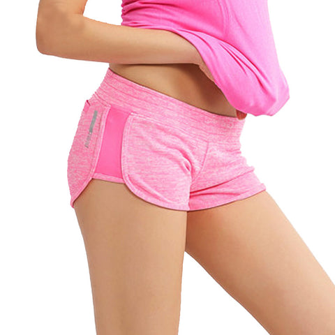 Elastic Waist Cotton Sports Shorts For Women
