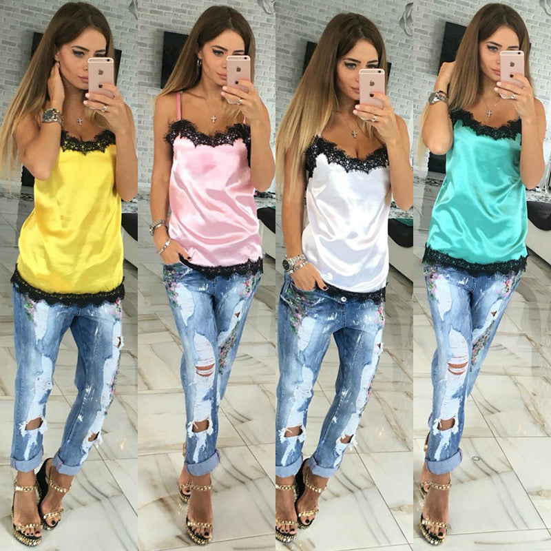 Colorful Camisole Women Spaghetti Best Tops