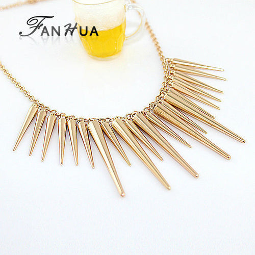Fashion Gold Silver Choker Statement Necklace