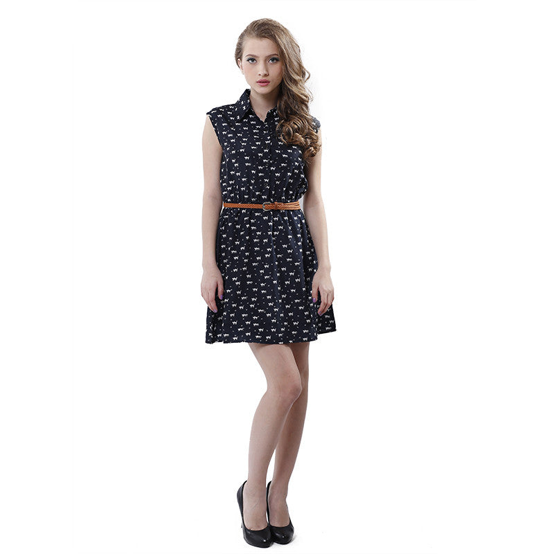 Sleeveless Flare Women Mini Best Dress