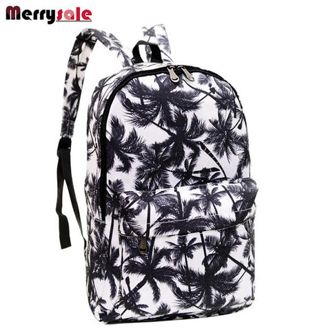 Women Print Canvas Backpack