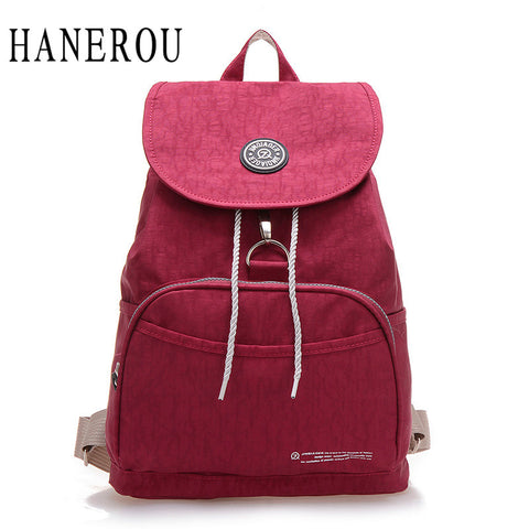 Drawstring Waterproof Nylon Backpack
