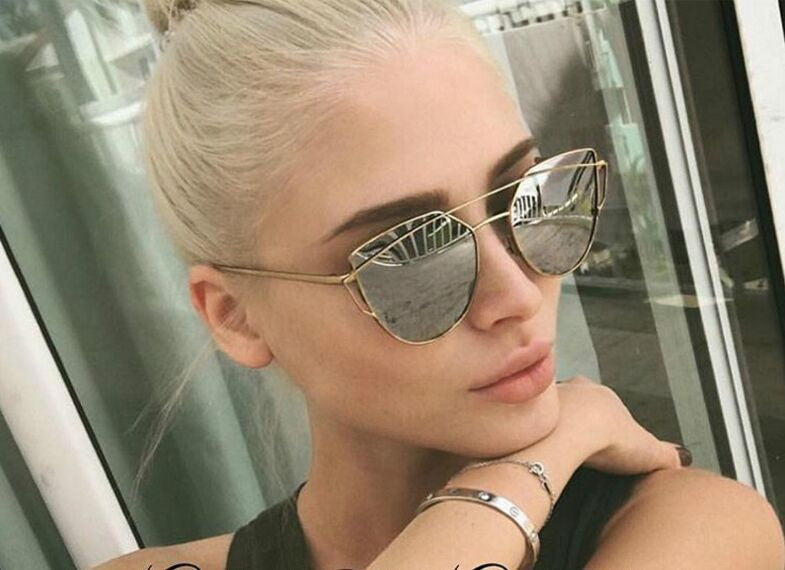 RunBird Designer Women Aviator UV Protection Cat Eye Sunglasses