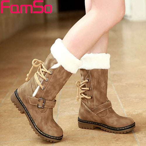 Fashion Faux Shearling Women Boots