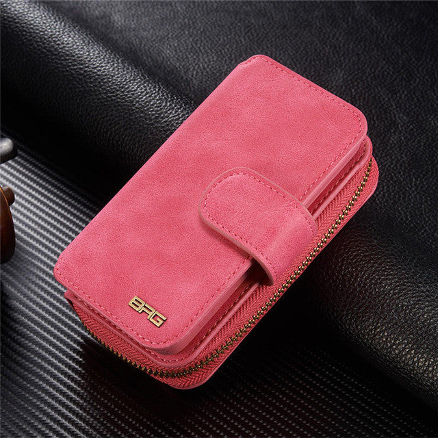 Leather Zipper Wallet Protective Cover Best Phone Case For iPhone