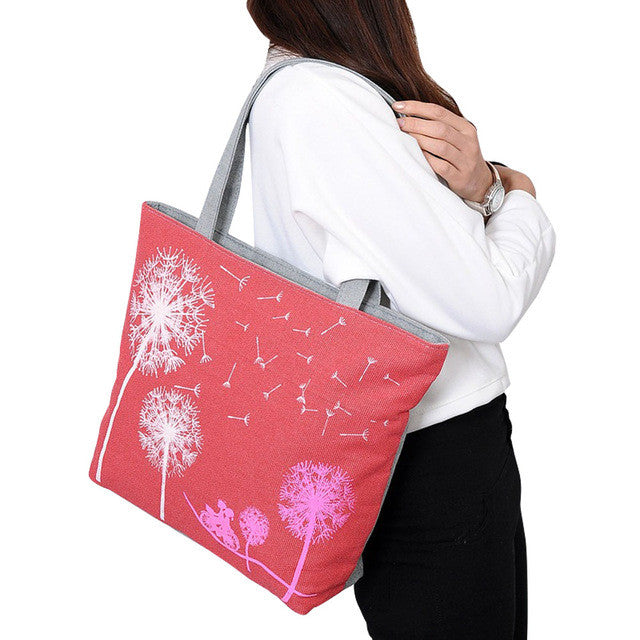 Women Flower Top Handle Shoulder Bag
