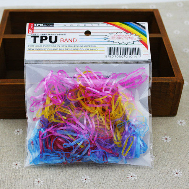 300pcs Elastic Rubber Hair Bands For Women