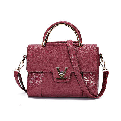 Quality Leather Women Top Handle Satchel Handbag