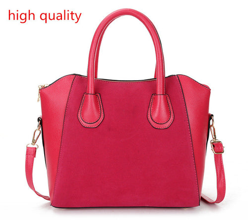 Classy Women PU Leather Top Handle Satchel Handbags