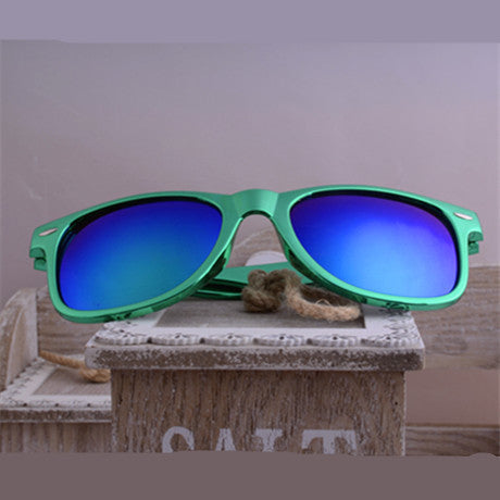Vintage Women Aviator Mirror Lens Sunglasses