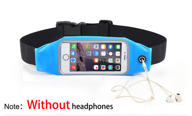Universal Waterproof Belt Waist Pouch Protective Case For iPhone