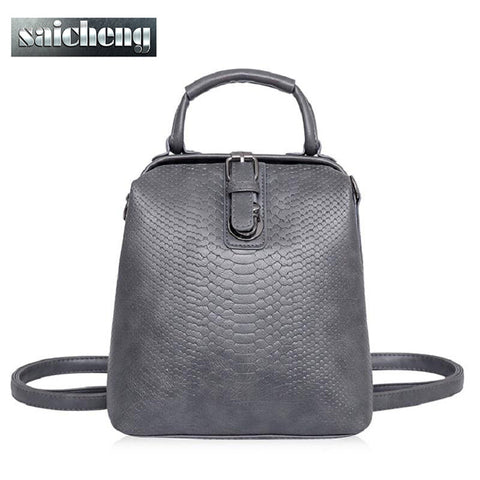 Leather Top Handle Backpack