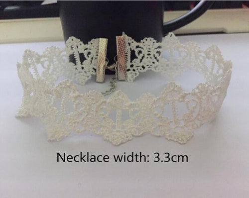 Fashion Velvet Choker Lace Charm Necklace