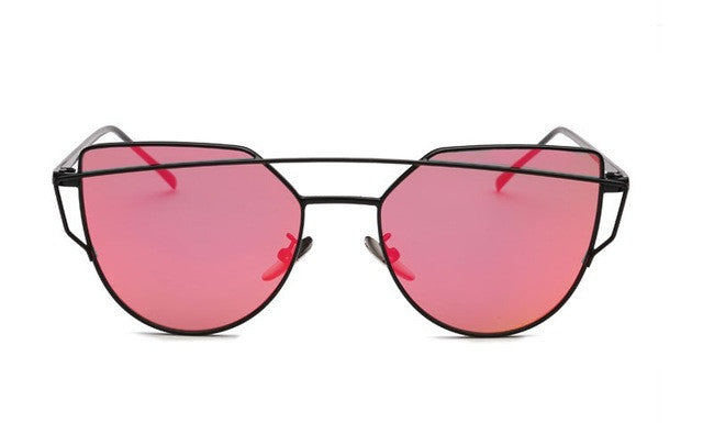 Classic Full Mirror Metal Frame Sun Glasses Women Aviator