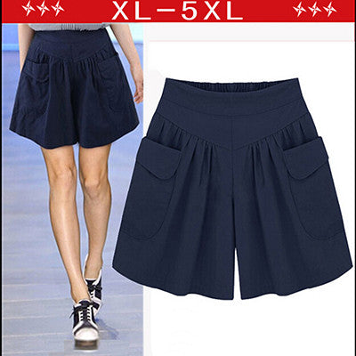 Women Plus Size Loose High Waisted Shorts